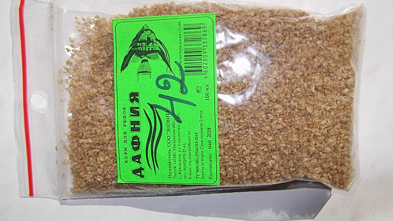 Сухой корм для рыбок дафния