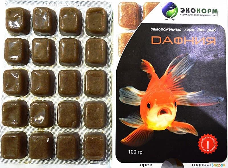 Замороженный корм для аквариумных рыб