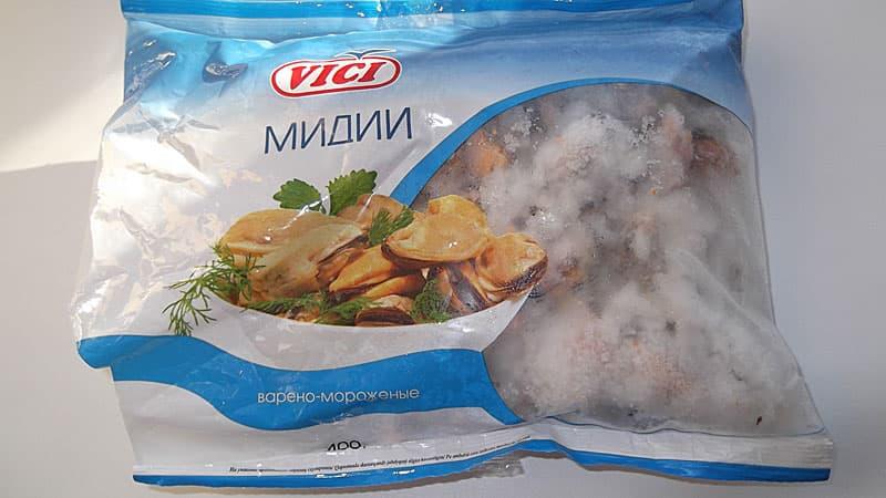 Корм для рыб моллюски мидии